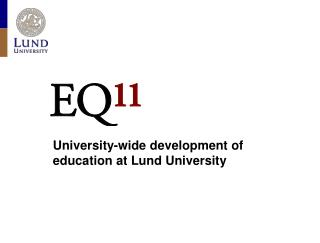 University-wide development of  education at Lund University