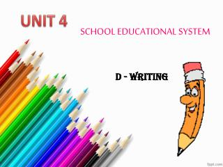 SCHOOL EDUCATIONAL SYSTEM