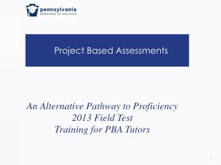 Project Based Assessments
