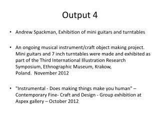 Output 4