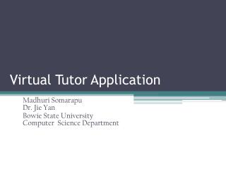 Virtual Tutor Application