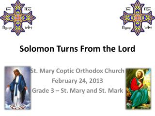 Solomon Turns From the Lord