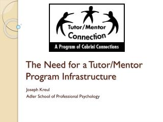 The Need for a Tutor/Mentor Program Infrastructure