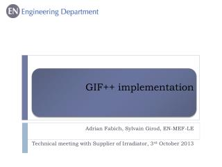 GIF++ implementation