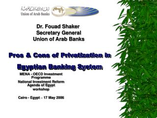 Pros  Cons of Privatization in Egyptian Banking System