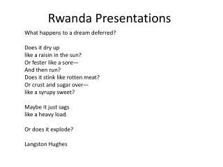 Rwanda Presentations