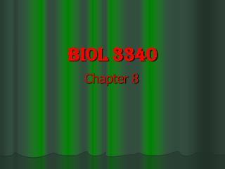 BIOL 3340