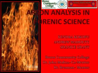 ARSON ANALYSIS IN FORENIC SCIENCE