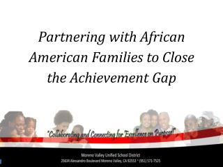 Partnering with African American Families to Close the Achievement Gap