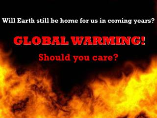 Can We Prevent Global Warming?