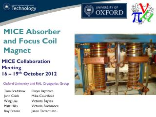 MICE Absorber and Focus Coil Magnet