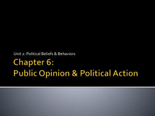 Chapter 6: Public Opinion & Political Action