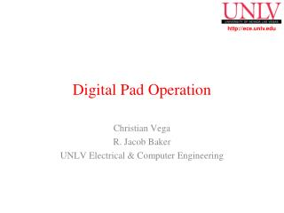 Digital Pad Operation
