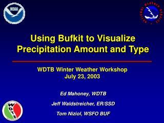 Using Bufkit to Visualize Precipitation Amount and Type