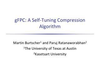 gFPC: A Self-Tuning Compression Algorithm