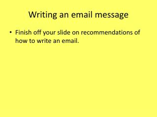 Writing an email message