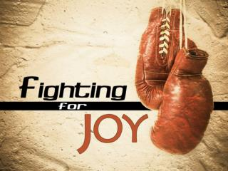 Fighting Yourself  for joy