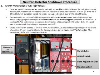 Neutron Detector Shutdown Procedure