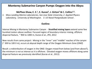 Monterey  Submarine Canyon Pumps Oxygen into the Abyss