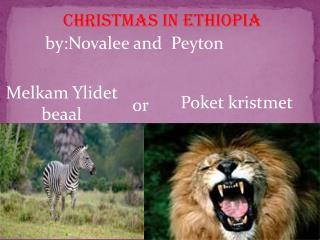 CHRISTMAS IN  ethiopia