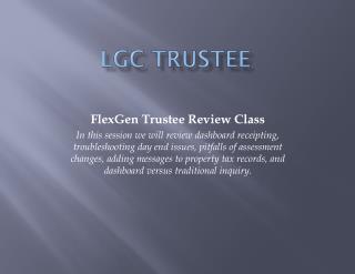 LGC Trustee