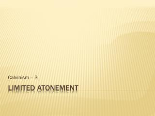Limited atonement