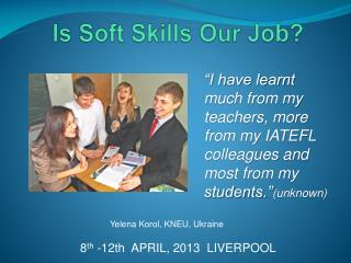 Is Soft Skills Our Job?