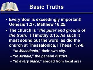 Basic Truths