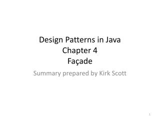 Design Patterns in Java Chapter 4 Façade