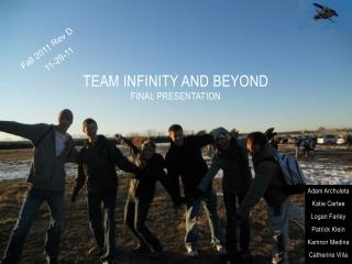 Team Infinity and Beyond Final Presentation