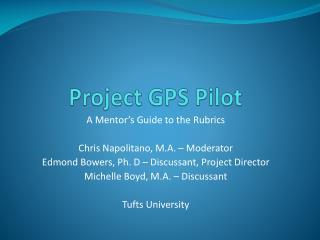 Project GPS Pilot