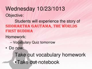 Wednesday 10/23/1013