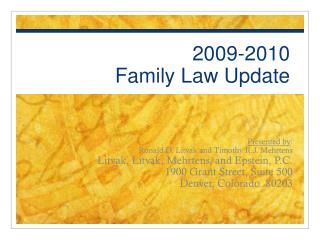 2009-2010  Family Law Update