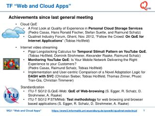 TF �Web and Cloud Apps�