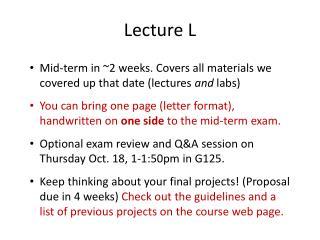 Lecture L