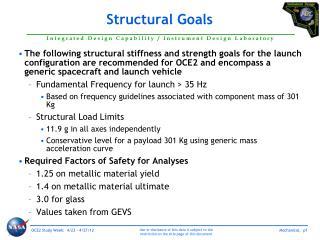 Structural Goals