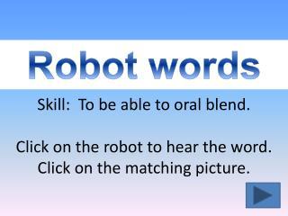 Robot words