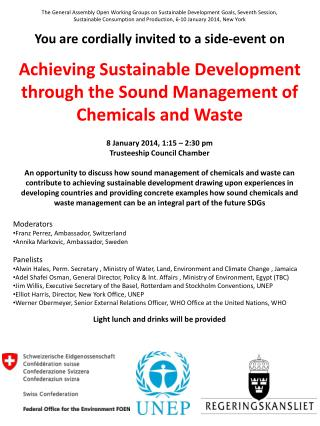 Achieving Sustainable Development  through the Sound Management of Chemicals and Waste