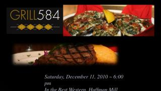 Saturday, December 11, 2010 ~ 6:00 pm In the Best Western, Huffman Mill Road