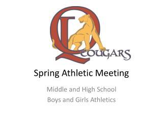 Spring Athletic Meeting