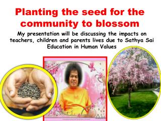 Planting the seed for the community to blossom