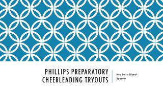 Phillips preparatory Cheerleading tryouts