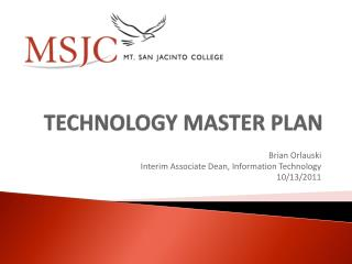 TECHNOLOGY MASTER PLAN