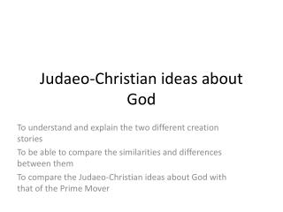 Judaeo-Christian ideas about God