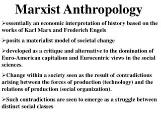 Marxist Anthropology