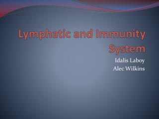 Lymphatic and Immunity System
