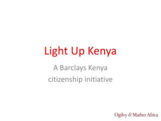Light Up Kenya