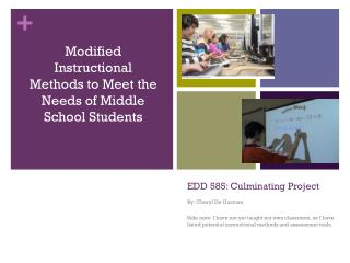 EDD 585: Culminating Project