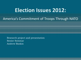 Election Issues 2012:
