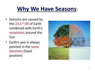Why We Have Seasons :